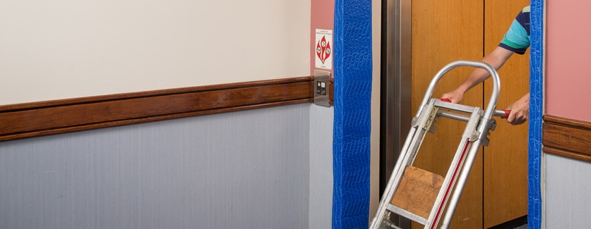 Protect elevator door jambs from dents and scratches with Palmer Elevator Entrance Protection Kits.